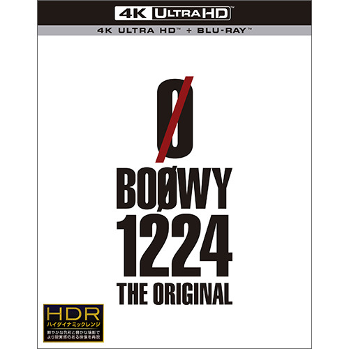 BOØWY / 1224 -THE ORIGINAL-【Ultra HD Blu-ray】【+Blu-ray】
